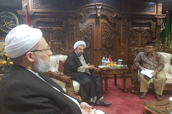 دیدار رئیس دانشگاه مذاهب اسلامی با دبیرکل سازمان محمدیه اندونزی