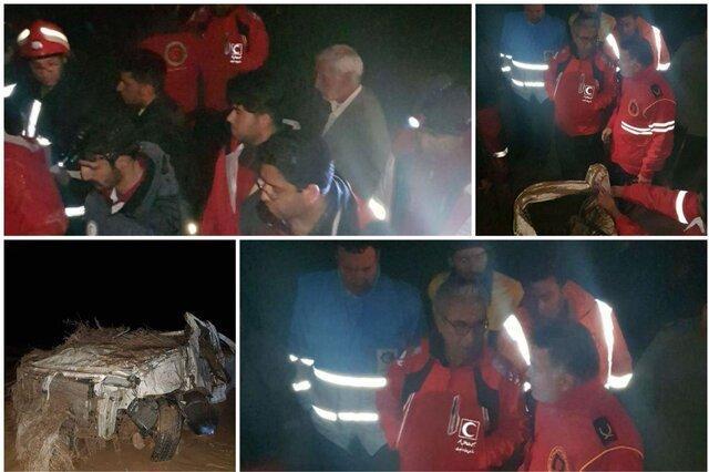 مرگ راننده ال 90 در سیل جنوب سمنان