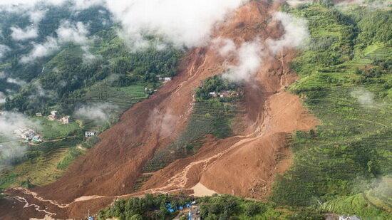 رانش زمین در چین 20 کشته برجا گذاشت
