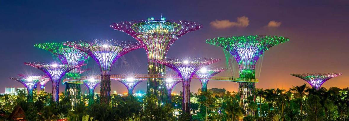 ایرانی ها باغ شهرها را نابود می نمایند؛ سنگاپوری ها شهر باغ می سازند! │ تصاویر جنگل ابر سنگاپوری ها با بزرگ ترین گلخانه بی ستون دنیا