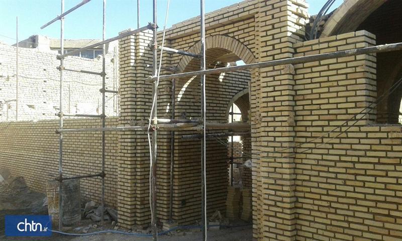 ادامه عملیات مرمت و احیای مسجد پامنار زواره در شمال شرق اصفهان