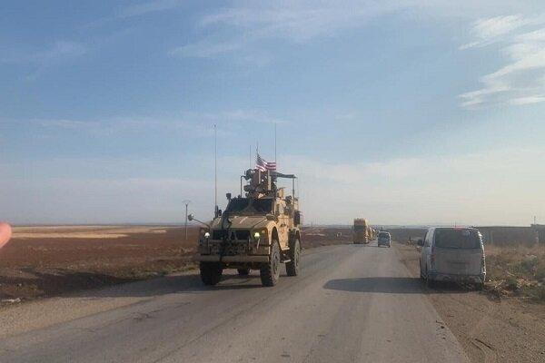 حرکت یک کاروان نظامی آمریکایی به سمت حومه دیرالزور