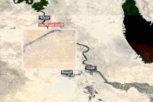 اصابت 5 موشک به پایگاه آمریکایی ها در عین الاسد در غرب عراق