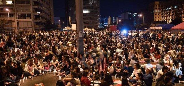 ادامه تظاهرات در مرکز بیروت
