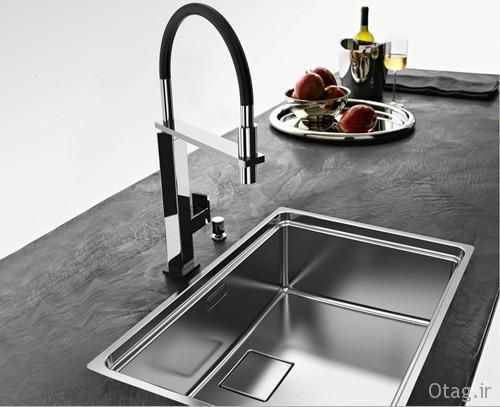 راهنمای خرید انواع مدل سینک ظرفشویی آشپزخانه ، عکس ، ابعاد
