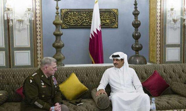 امیر قطر با رئیس ستاد مشترک ارتش آمریکا همکاری استراتژیک را آنالیز کرد