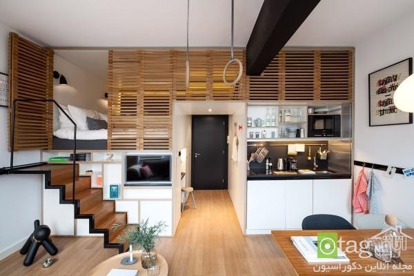 دکوراسیون آپارتمان کوچک تکخوابه با طراحی مدرن و بسیار شیک