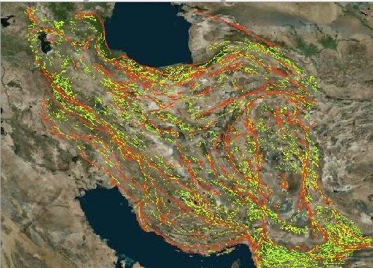 جدیدترین داده های ماهواره ای درباره گسل شمال تهران