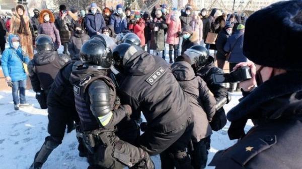 روسیه: آمریکا از اعتراضات حامیان ناوالنی حمایت می نماید