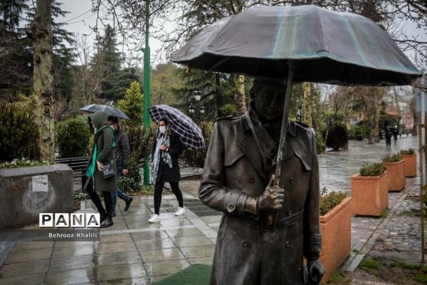 بارش باران در 27 استان طی امروز