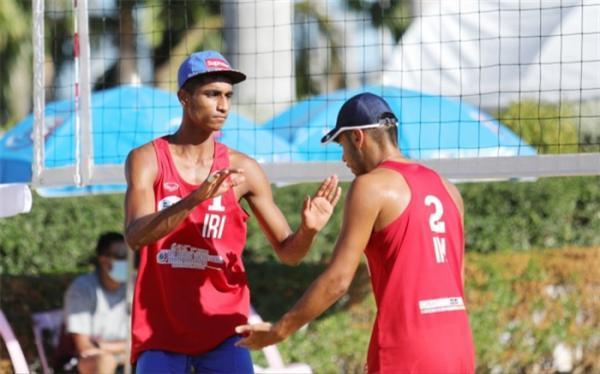 والیبال ساحلی قهرمانی زیر 19 سال آسیا؛ ایران فینالیست شد